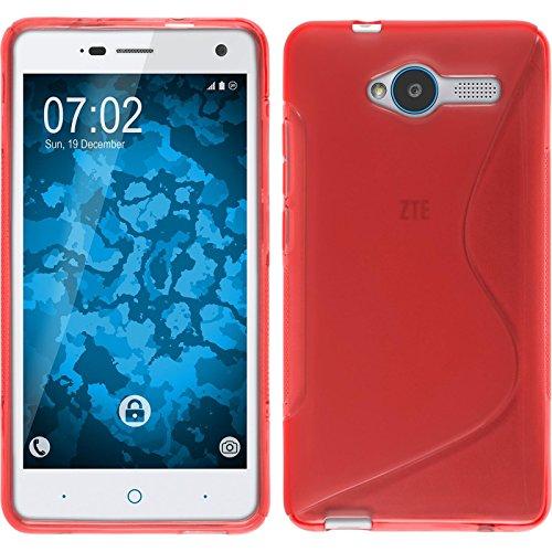 PhoneNatic Case kompatibel mit ZTE Blade L3 - rot Silikon Hülle S-Style + 2 Schutzfolien