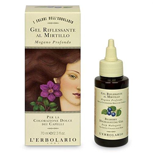 L'Erbolario - Gel per capelli con mirtillo, rosso mogano, 70 ml