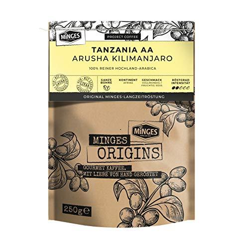 MINGES Origins 100% Arabica 'Arusha Kilimanjaro', ganze Bohnen, 250 g