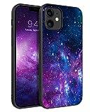 BENTOBEN Compatible with iPhone 12 Mini Case, Slim Fit Glow in The Dark Soft Flexible Bumper Anti Scratch Protective Cute Cases Compatible with Apple iPhone 12 Mini 5.4' (2020), Nebula/Galaxy Design