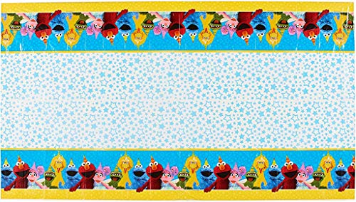 Amscan 571672 Table Cover | Sesame Street Collection | Party Accessory 36 sq. ft