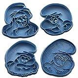 Cuticuter Schlümpfe Pack Ausstechform, Blau, 16x 14x 1.5cm, 4Stück