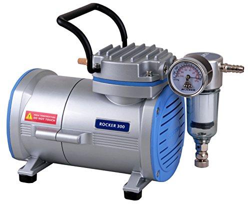 Vakuumpumpe / Laborpumpe Rocker 300: 80mbar (-680mmHg) 20 l/min, schmiermittel- und ölfrei, für (Vakuum-) Filtration, Luftproben oder Schwebestofftests