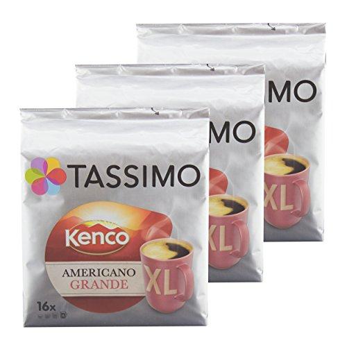 Tassimo Americano Grande XL, Aromatische & Professionelle Röstung, Kaffee, Kaffeekapsel, T-Disc, Röstkaffee, 48 Portionen