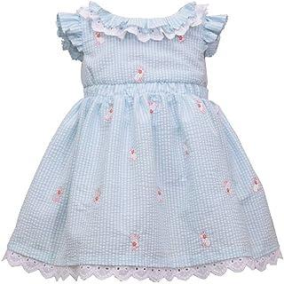 Easter Dress - Seersucker Eyelet Bunny Dress for Baby and Toddler Girls
