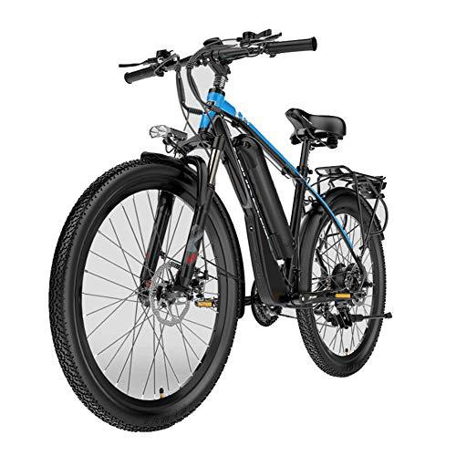 HLEZ Bicicletta Elettrica, Elettrica Bici da Montagna 48V 400W e Bike con Batteria al Litio da 21 velocità Adatta per Trekking,...