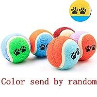 1ピースミニ小型犬のおもちゃペットの犬チューボール子犬犬のボールペットのおもちゃ子犬テニスボール犬のおもちゃボールペット製品-ランダムcolor_one size