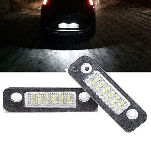 Nslumo, unità di luce LED per targa per Fiesta Mk6 ST Zetec S ZS