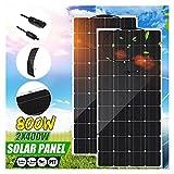 YSNUK Panel Solar Flexible Monocristalino, Kit Completo De 800W, 400W, 18V para Teléfono Inteligente Doméstico, Coche, RV, Cargador De Batería (Color : 800W)