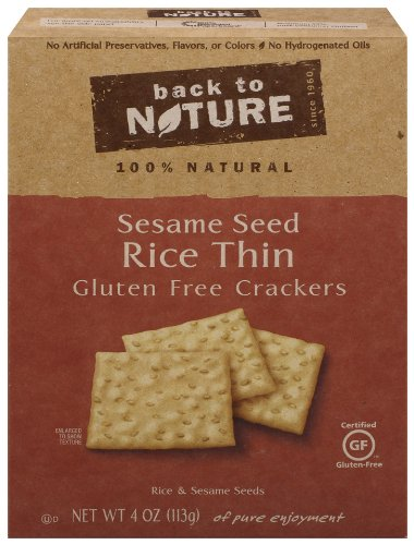 Back To Nature Gluten Free National uniform free shipping Non trend rank Rice Crack Sesame GMO Thin Seed