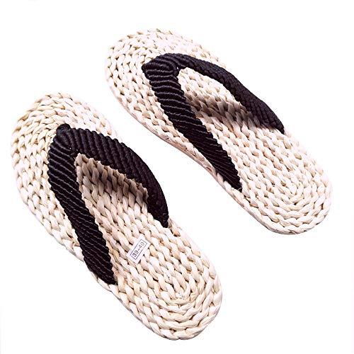 Unisex Handgefertigt Stroh Pantoffeln Gewoben Sandalen Zum Reinschlüpfen Vintage