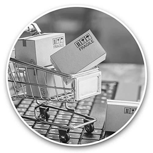Impresionantes pegatinas de vinilo (juego de 2) 10 cm (bw) – Divertidas pegatinas divertidas para portátiles, tabletas, equipaje, reserva de chatarra, frigorífico, regalo genial #43307
