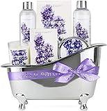 Body & Earth Set de Regalo de Baño para Mujer, Regalos Originales para Mujer, Fragancia Lavanda