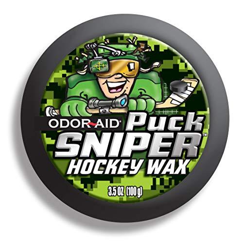 Odor Aid Puck Sniper Hockey Wachs 100g, Eishockey Schlägerwachs (grün)