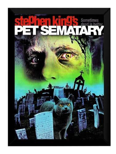 Quadro Cemitério Maldito Poster Pet Sematary Moldurado