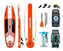 iROCKER Cruiser Aufblasbares Stand Up Paddle Board 3,2 m lang 83 cm breit 15 cm Dickes SUP Set | Orange - 2019