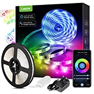 Lepro LED Strip Lights, 5m Smart WiFi LED Strips with Voice & App Control Music Sync Mode Timer, RGB...