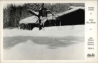 Club San Moritz, Lake Gregory - Winter Haven Crestline, California Original Vintage Postcard