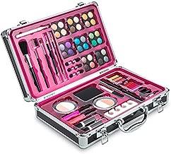 Vokai Makeup Kit Set - 32 Eye Shadows 6 Lip Glosses 2 Lip Gloss Wands 2 Lipsticks 1 Face Powder Duo 1 Blush Powder Duo 1 Mascara - Case with Carrying Handle