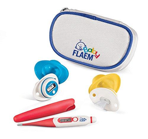 Flaem Baby BF04A00 Trousse Bebè Sano Termometro a Succhiotto Digitale Ergonomico