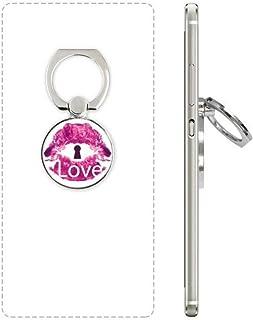 DIYthinker Valentijnsdag Roze Lip Liefde Keyhole Telefoon Ring Stand Houder Beugel Universele Smartphones Ondersteuning Gift