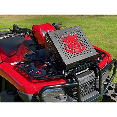 Radiator Relocation Kit for Honda Rancher 420 (2020+) - Black Shroud w/Red Boar Logo