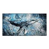 Animal Ballena Azul en el océanoDIY Pintura de por números-Lienzo preimpreso-Pintura al óleo para Adultos Principiante Niños Creativo DIY Pintura al óleo Digital_40x50