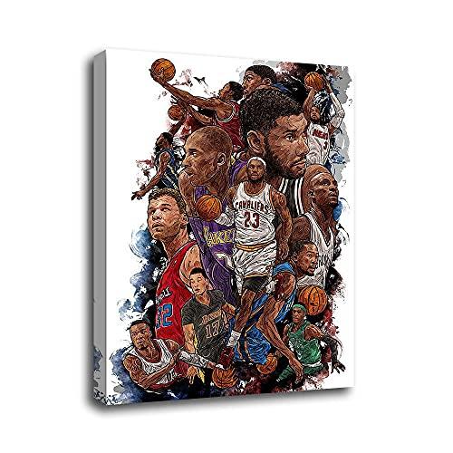 Pósteres Mundial de Baloncesto NBA Lakers Papel Pintado Lienzo Arte Pared Decoración Familiar Moderna Enmarcado o sin enmarcar Tamaños personalizados disponibles