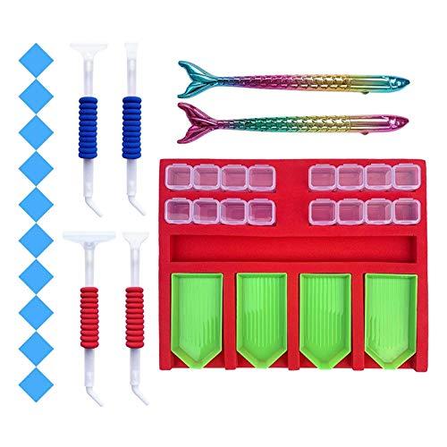 Harilla Kit Completo de Accesorios de Pintura de Diamantes para Bricolaje, Herramienta de Arte para Manualidades con Diamantes - Tipo 4, Individual