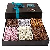 Oh! Nuts Chocolate Covered Pretzels Gift Basket, 6 Variety Assorted Flavored Set of Yogurt, Milk & Dark Gift...