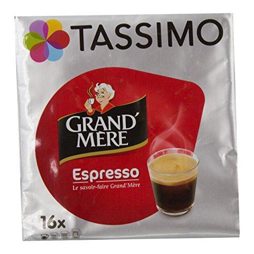 Tassimo Grand Mère Espresso, Kaffee, Kaffeekapsel, Gemahlener Röstkaffee, 16 T-Discs