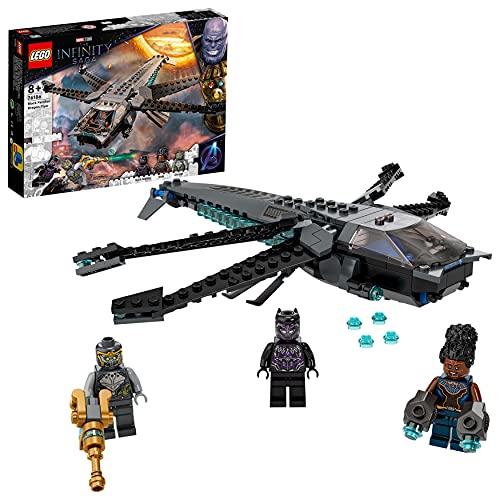LEGO 76186 Marvel Super Heroes Black Panthers Libelle Spielzeug, Avengers Set mit Black Panther Figur und Anderen Superhelden