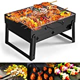 Barbecue Carbone Golwof Barbecue Portatile Barbecue Grill Barbecue Pieghevole Griglia in A...