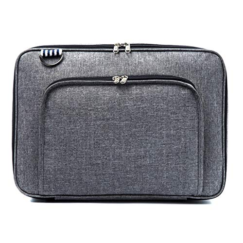 Leisu Maletín para portátil Laptop Funda Bolso de Hombro Bolsa de Mensajero Multi-función Mochila Convertible Bolsa de Viaje espaciosa Bolsa de Hombro Casual Laptop Mochila(Gris)