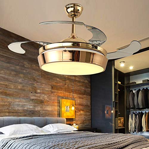 A Million 42' Modern Ceiling Fan with Lights Luxury Acrylic...