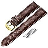 22mm Cinturino Per Orologio Da Polso Uomo Donna Di Pelle Cachi Cinturini Da Ricambio Nero 18mm 19mm 20mm 21mm 22mm 24mm