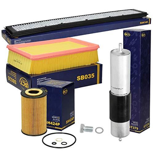 Inspektionspaket Wartungspaket Filterset 1 x Ölfilter 1 x Luftfilter 1 x Innenraumfilter mit Aktivkohle Typ Aktivkohlefilter Stabiler Kunststoffrahmen 1 x Kraftstofffilter 1 x Ölablassschraube