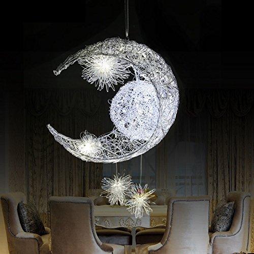 FANDBO@ Stile coreano romantica e Luna luce del pendente stella creativa LED Lampadario