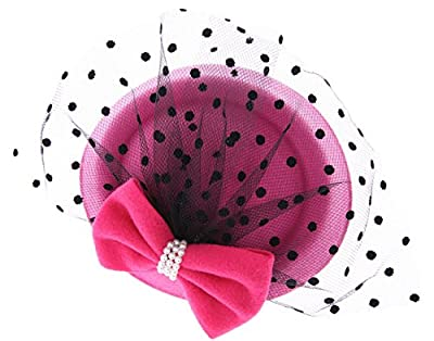 VGLOOK Women's Fascinators Hat Pillbox Hat Cocktail Party Hat with Veil Hair Clip