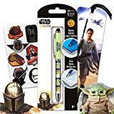 Mandalorian School Supplies Baby Yoda Pen Set Bundle - 3 Pc Star Wars Mandalorian Office Accessories with Baby Yoda Pen, Rey Bookmark, and Star Wars Stickers (Mandalorian Party Supplies)