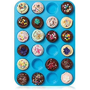 Lucentee Silicone Muffin Pan for Baking, 24 Cup