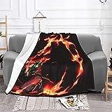 Flauschig Kuscheldecke Warme Weiche Flanelldecke als Tagesdecke SofaüBerwurf Wohnzimmer Couch Outdoor Picnic Plaid Schlafdecke Dämonen Jäger-180X240CM