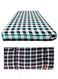 Cotton Mattress Cover for Double Bed with Zip/Chain 72x36x4, Set of 2
