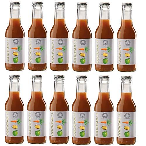Azienda Agricola Prunotto Mariangela - Cocktail 1 (Mela, Carote e Zenzero) 200 ml - 12 Confezioni da 200 ml (12x200ml)