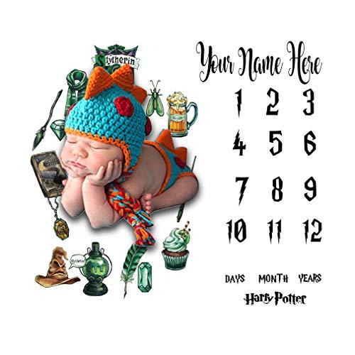 YAOXI Recién Nacido Bebé Hito Manta, Guardería Manta Fondo Memoria Manta para Unisexo 0-12 Meses Bebé Mensual Manta Foto Manta Fotografía Antecedentes,A
