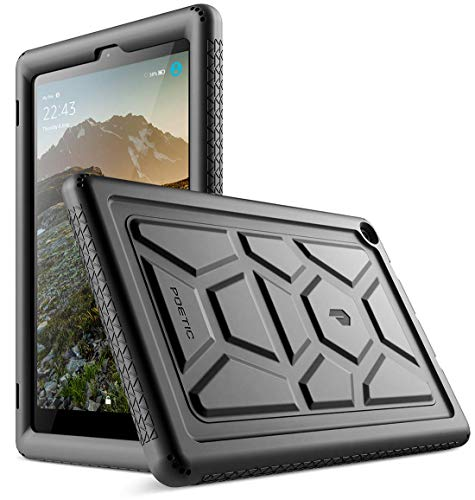 Poetic All-New Fire HD 10 Tablet Case (7th Gen 2017 and 9th Gen 2019 Release), Heavy Duty Kids Friendly Silicone Protective Cover, TurtleSkin Series, for Amazon Fire HD 10.1 Inch Tablet, Black