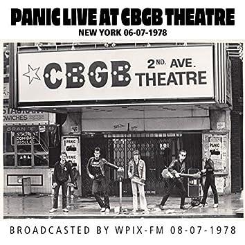 Panic Live at CBGB Theatre, New York, 06-07-1978