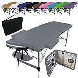 Vivezen ® Table de massage pliante 2 zones en aluminium + Accessoires...