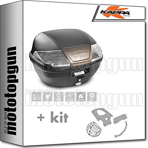 KAPPA MALETA K400NT 40 LT + PORTAEQUIPAJE MONOLOCK COMPATIBLE CON HONDA XL 700 V TRANSALP 2010 10