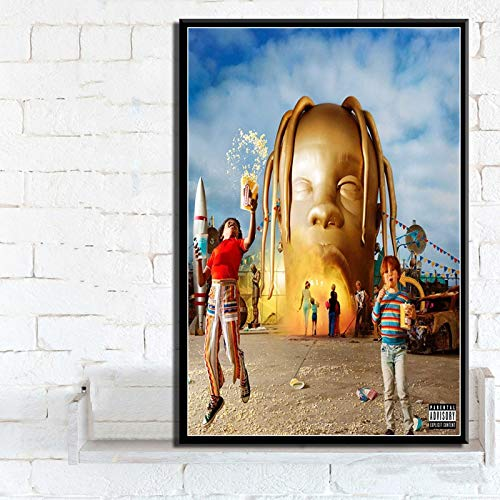yaofale Sin Marco Astroworld Rodeo Days Rap Music Album Star Poster Prints Art Canvas Painting Wall Pictures Living Room Home Decor 40x50cm